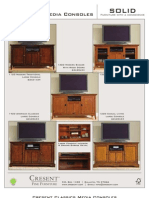 Cresent Classics Media Console Tearsheet