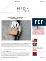 Vegan Handbag Dupes for the Most Iconic Bags - Eluxe Magazine