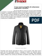 UNO61 Presenta Il Suo Nuovo Progetto Di Urbanwear Traspirante e Termico - Notizie