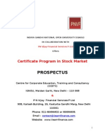 16 16 Certificate Program in Stock Market