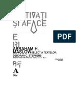 Abraham h. Maslow - Motivatie Si Afaceri Ocr D