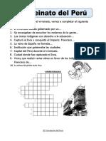 Ficha de Virreinato Del Peru Para Segundo de Primaria