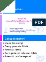 2351604223_Kuliah-05 Energi potensial listrik dan Potensial listrik.ppt