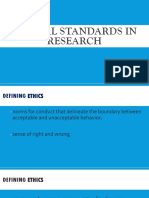 Ethical Standards in Writing Literature Review