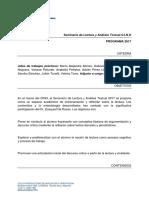 Programa Seminario Análisis Textual