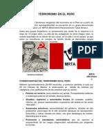 Consecuencias Del Terrorismo en El Peru