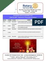 Programa Mês de Dezembro 2017