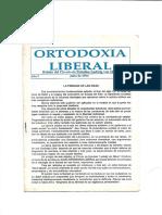 Ortodoxia liberal N° 1