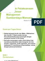 Briefing Tugas Besar Manajemen SDM
