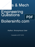 Boiler Mechanical Engineering Question Book