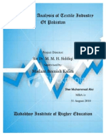A Strategic Analysis of Textile Industry of Pakistan