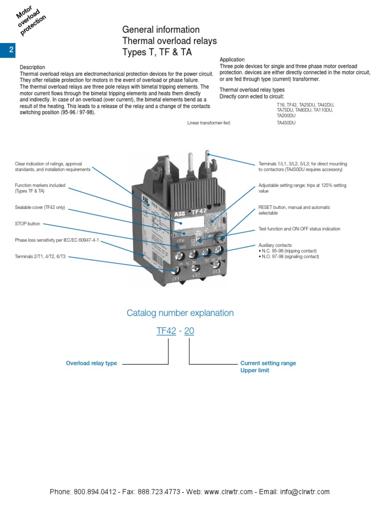 ABB Thermal Overload Relays   Relay   Equipment
