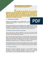 PRINCIPIOS BÁSICOS DE ANESTESIA