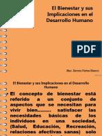 El Bienestar y Sus Implicaciones en El Desarrollo Humano