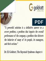 Goldratt acerca de las soluciones poderosas