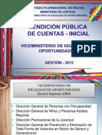Rendición Publica de Cuentas  Igualdad de Oportunidades_2015