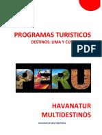 Programas Turísticos Peru i