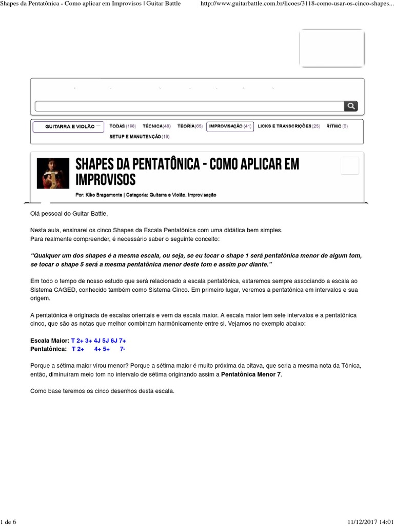 Escala Pentatonica Guitarra Download