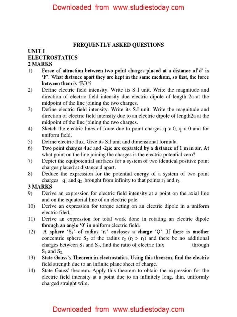 Cbse Class 12 Physics Frequently Asked Questions In Examinations Cyberphysics Nuclear Power Photoelectric Effect Inductance