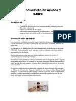Reconocimiento de Acidos y Bases