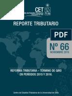 Reforma Tributarua - Termino de Giro en Periodos 2015 y 2016