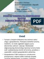 Utjecaj Turizma Na Gospodarski Razvoj