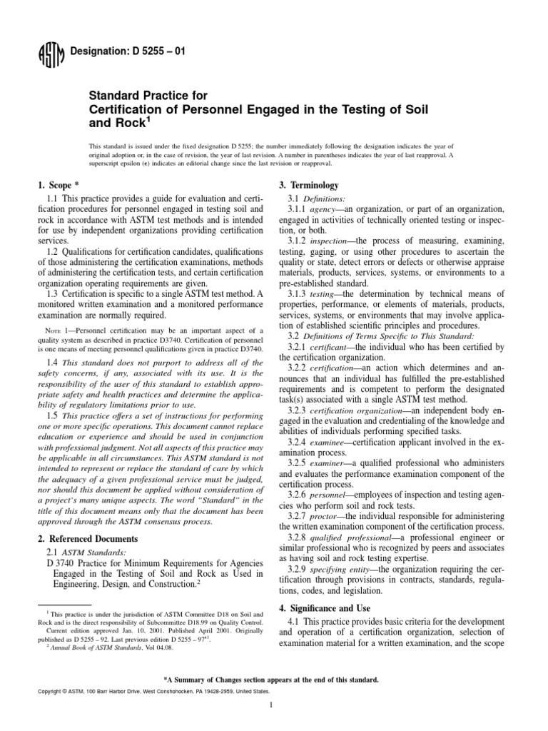 D5255personal Certification Test Assessment