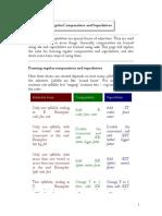 Regular Comparatives and Superlatives