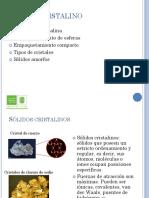 Estructura Cristalina y Tipos de Sólidos