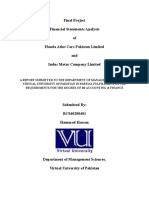 ACF619 - Final Project - VU - Financial Analysis | Best Project