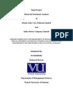 ACF619 - Final Project - VU - Financial Analysis | Best Project