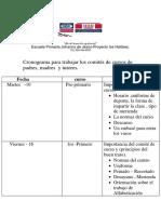Cronograma para trabajar los comités de cursos de padres, madres  y tutores..docx
