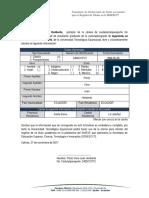 Declaración de Datos Personales para el Registro de TÃ_tulos en la SENESCYT