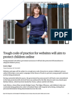Tough code of practice for websites wil...ren online | Technology | The Guardian