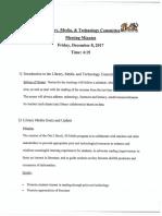 Brock LMTS Committee Meeting Minutes 12.8.17