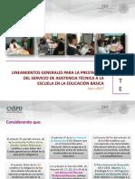 SEP (2017d). Lineamientos Generales. Servicio de Asistencia Técnica a La Escuela