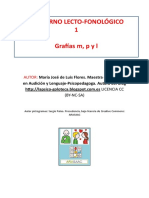 Cuaderno Lecto-fonológico LETRAS M P L