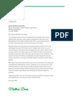 m davis - senior portfolio cover letter