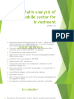 1Ratio Analysis of Automobile Sector for Investment