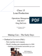 15 - Intro to Lean Production Fall 2017
