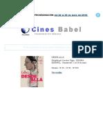 Cines Babel PROGRAMACIÓN Del 22 Al 30 de Junio Del 2016