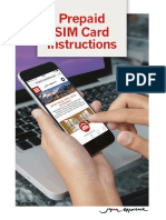Prepaid Sim Card Instructions