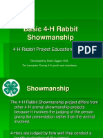 Rabbit Showmanship