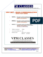 Ugc Net Mass Communication & Journalism Free Solved Paper English Version 570787149 (1)