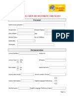 Crew Recruitment Checklist