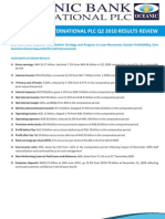 Oceanic Bank International PLC Q2 2010 Results Review