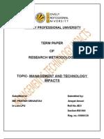 R.M TERM PAPER,