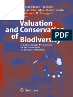 Markussen Et Al 2005 Valuation and Conservation of Biodiversity