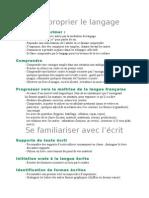 Compétences PS 2008