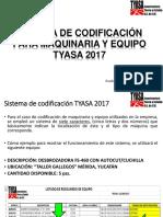 Manual de Codificación Para Maquinaria y Equipos TYASA (2017)